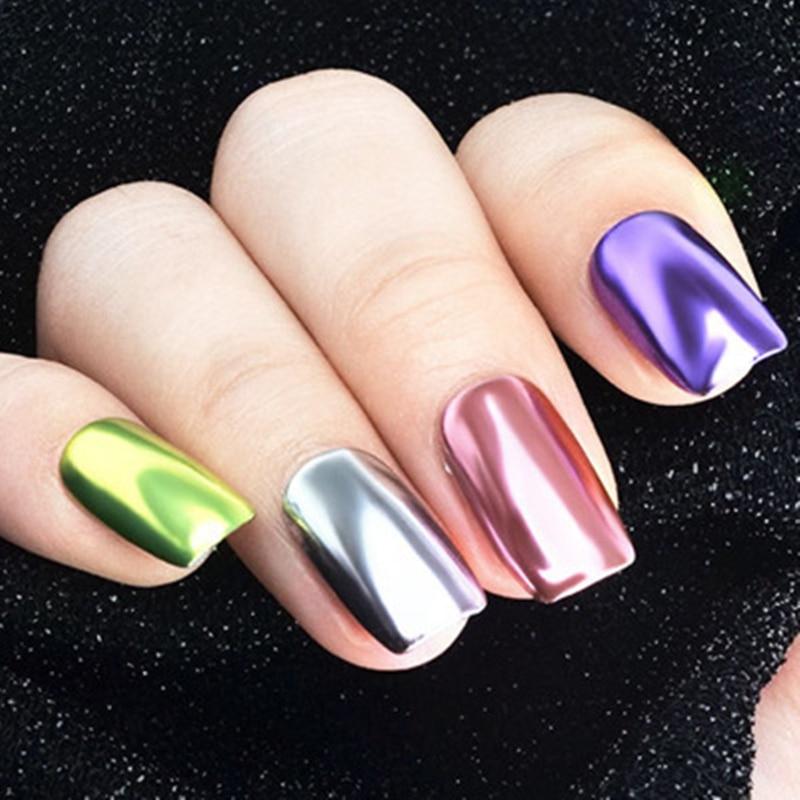 Holographic Nail Powder Chrome Powder for Nails Holo Nail Powder Rainbow Unicorn Mirror Effect Multi Chrome