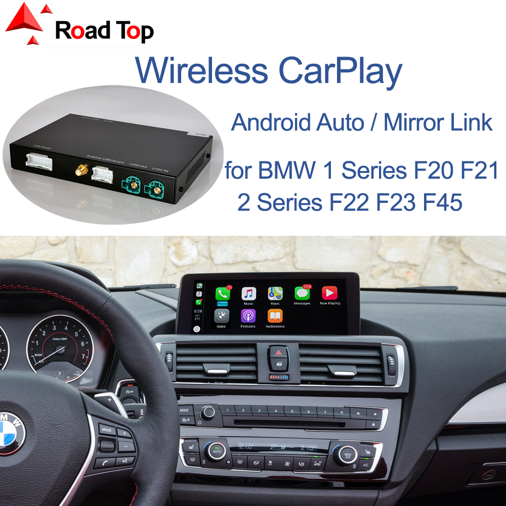Wireless CarPlay for BMW 1 2 Series F20 F21 F22 F23 F45 2011-2016 CIC NBT, with Android Mirror Link AirPlay Car Play Function(China)