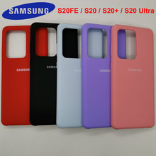 Coque de téléphone Samsung en Silicone liquide, étui soyeux et doux au toucher pour Galaxy S20FE S20 plus S20 plus