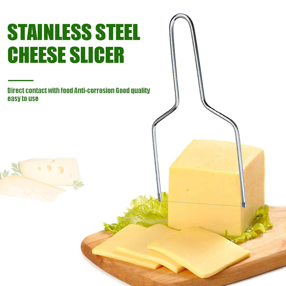 Stainless Steel Eco-Friendly <font><b>Wire</b></font> <font><b>Cheese</b></font> <font><b>Slicer</b></font> <font><b>Cheese</b></font> Tool Butter Cutting Board Butter Cutter Knife Board Kitchen Kitchen Tools image