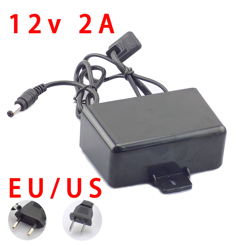 Waterproof Outdoor AC/DC Power Supply 12V 2A 2000ma 100-240V  EU Plug Power Adapter Charger For CCTV Camera LED Strip Light K8
