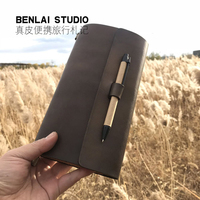 Original handmade leather diary travel notebook stationery retro leather this creative loose leaf book first layer leather