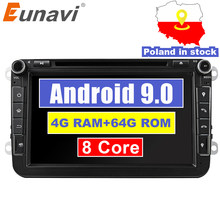 Eunavi 2din Android 9.0 Octa Core 4GB 64GB SAMOCHODOWY ODTWARZACZ DVD dla VW Passat CC Polo GOLF 5 6 Touran EOS t5 Sharan Jetta Tiguan radio GPS bt(China)