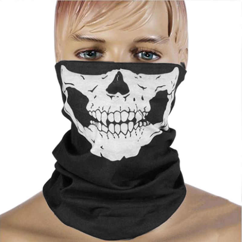 Skeleton Skull Bike Half Face Mask Cover Face Hood Protection Cycling Fishing Sports Outdoor Winter Neck Guard Scarf Warm Mask