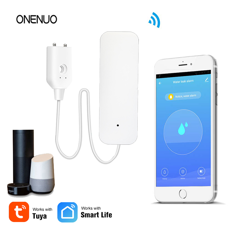 Water-Alarm-Sensor Leakage Overflow Wifi Flood Tuya/smart-Life Notifications Remote-Monitor