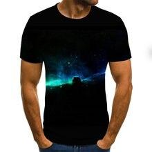 2021 Nuevo Estrellado Camiseta Con Estampado De Cielo Hombres/camisa Interestelar De Las Mujeres Camiseta Casual Sleeve Style