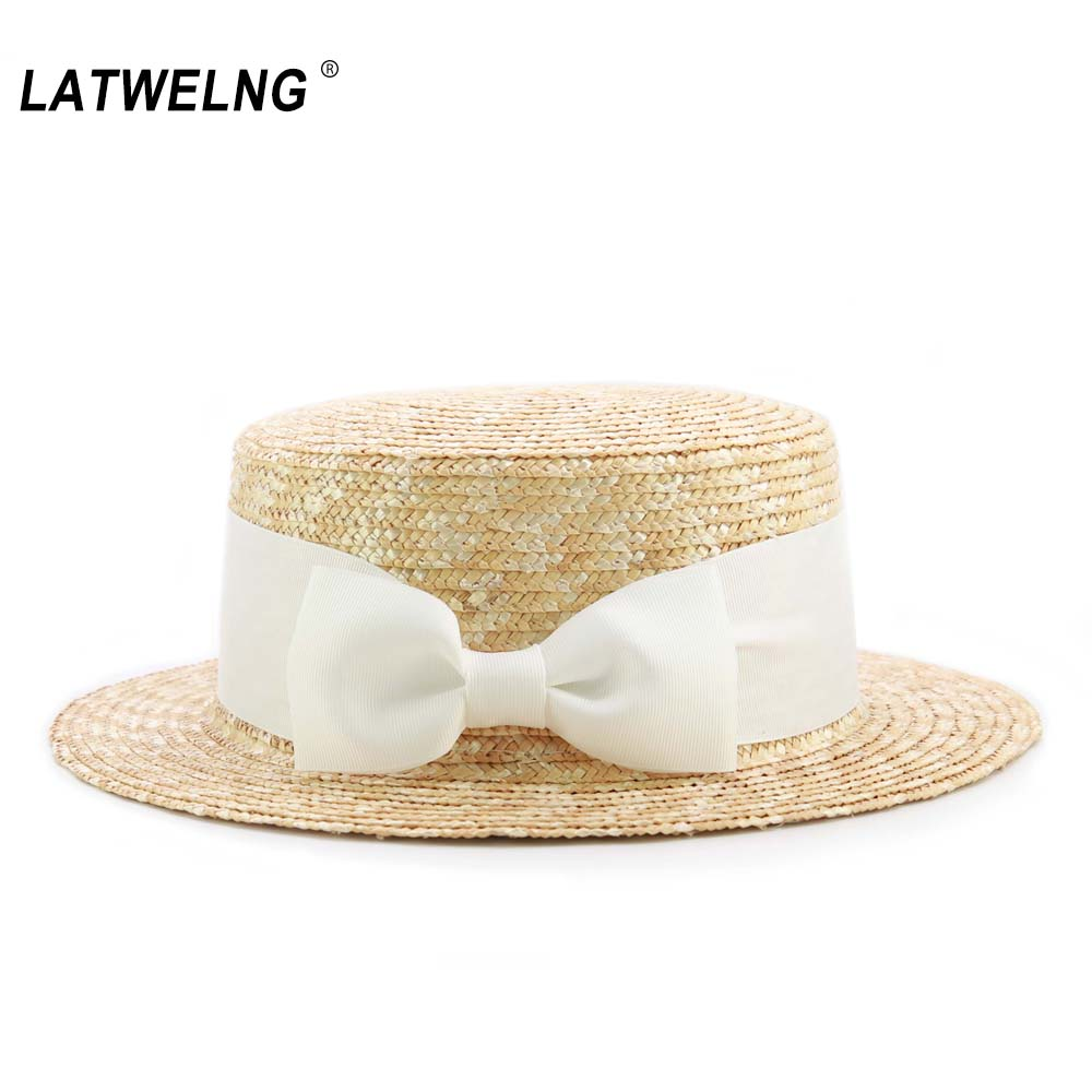 2020 New Adults & Children Big Bow Straw Sun Hats Women Summer Beach Hat Girls Boys Visor Cap Kid UV Hat Wholesale Dropshipping