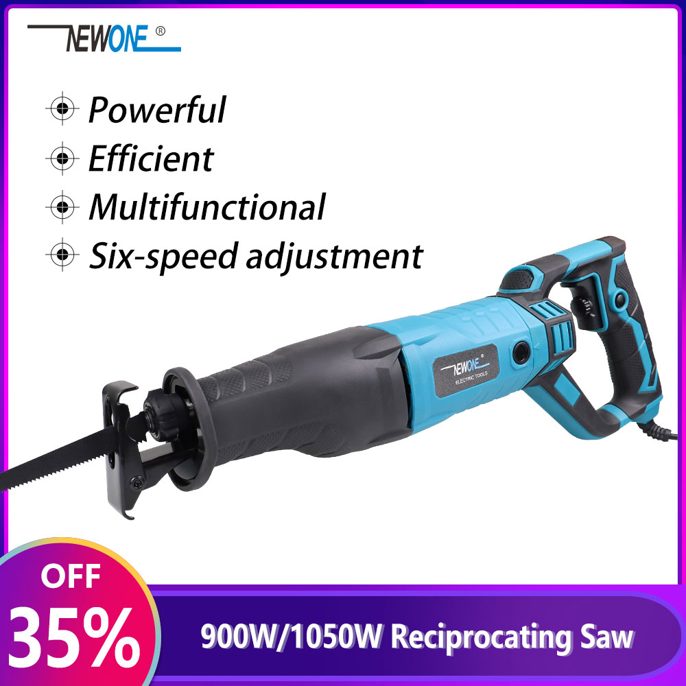 NEWONE 900W/1050W Multifunctional Reciprocating Saw Six-speed Adjustment Powerful Wood and Metal Cutting Electric Saber Saw