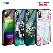 Black Cover Biblical scriptures for iPhone X XR XS Max for iPhone 8 7 6 6S Plus 5S 5 SE Super Bright Glossy Phone Case black cover japanese samurai for iphone x xr xs max for iphone 8 7 6 6s plus 5s 5 se super bright glossy phone case