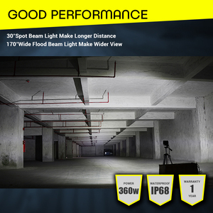 "Image 5 - LED Light Bar Offroad 4x4 360W 18"" Work Light Bar 12V 24V Combo Beams Car Headlight for Truck ATV Tractor Auto SUV ATV led barra"