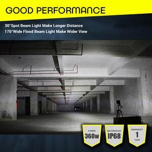 "Image 5 - Led Licht Bar Offroad 4X4 360W 18 ""Verlichting Bar 12V 24V Combo Balken auto Koplamp Voor Vrachtwagen Atv Tractor Auto Suv Atv Led Barra"