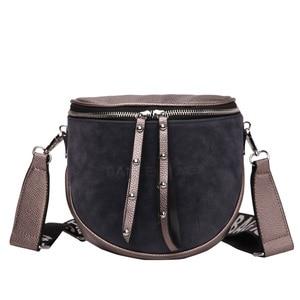Image 1 - women crossbody bags fashion female 2020 autumn and winter new shoulder bag port wind retro matte saddle  tide