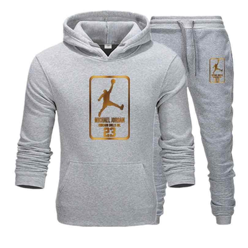Neue Männer Hoodies Anzug Jordan 23 Trainingsanzug Sweatshirt Anzug Fleece Hoodie + Schweiß hosen Jogging Homme Pullover 3XL Sporting Anzug männlichen