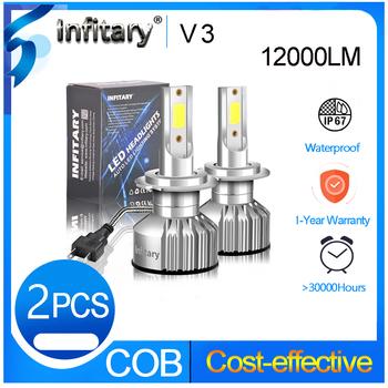 Infitary mini H4 led H7 canbus światła przeciwmgielne samochodu żarówki reflektorów 12000Lm H1 H3 H11 H13 9005 9006 3000K 4500K 6500K darmowa wysyłka tanie i dobre opinie CN (pochodzenie) universal 12 v 6500 k 72W pair 36W bulb led headlight h7 led h7 h4 led h4 h11 led h7 led h4 h1 led h1 h11 led led car light