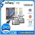 Автомобильные противотуманные фары Infitary mini H4 led H7 canbus, лампы фар 12000Lm H1 H3 H11 H13 9005 9006 3000K 4500K 6500K, бесплатная доставка
