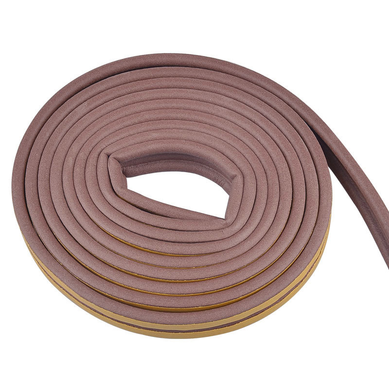 5M Self Adhesive D Type Doors & Windows Foam Seal Strip Soundproofing Collision Avoidance Rubber Seals MU8669