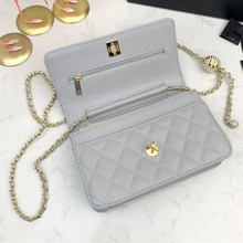 Luxury Designer Leather Quilted Shoulder Bag Chain Mini Flap