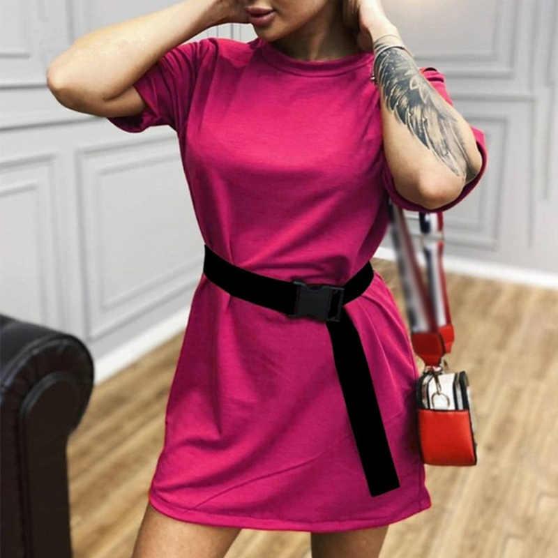 Zomer Korte Mouw Vrouwen Mini Jurk Met Riem Wit Sport Casual Vrouwelijke Jurken 2020 Nieuwe Mode Streetwear Dames Kleding