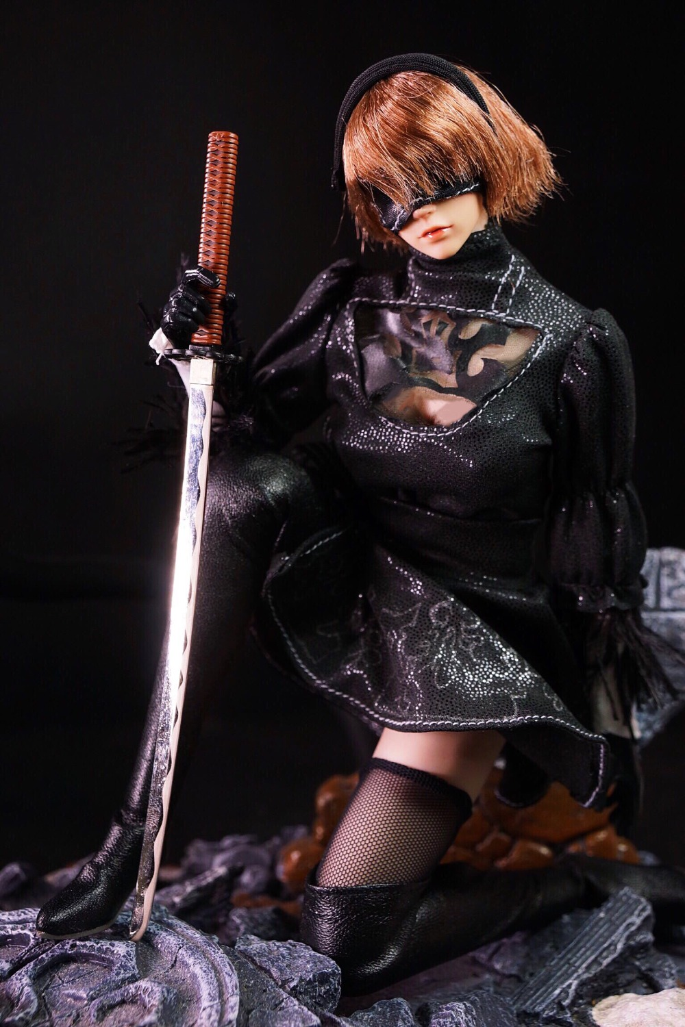 Cosplay Sexy Female Figure Clothes Accessory NieR:Automata YoRHa 2B Clothing Sets for 12 inches Action Figure In Stock 1/6 Scale