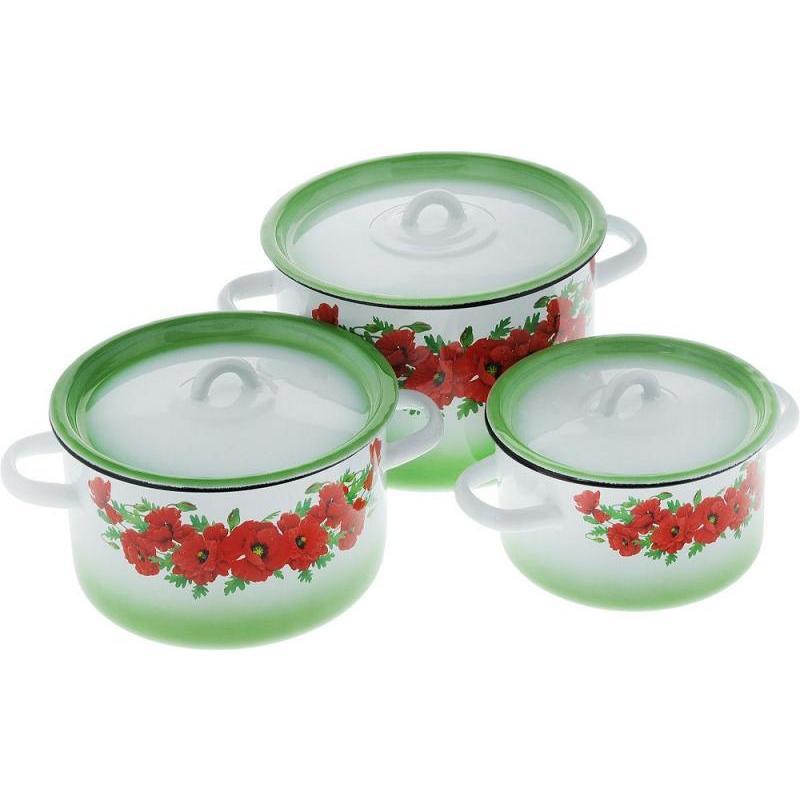 Un ensemble de casseroles старанараратени, pavot Oriental, 144, 6 articles