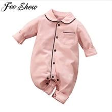 2020 Newborn Baby Clothes Cotton Infant Romper Jumpsuit Homesuit Baby Boys Girl Cotton Sleepwear Children Kids Homewear Pajamas