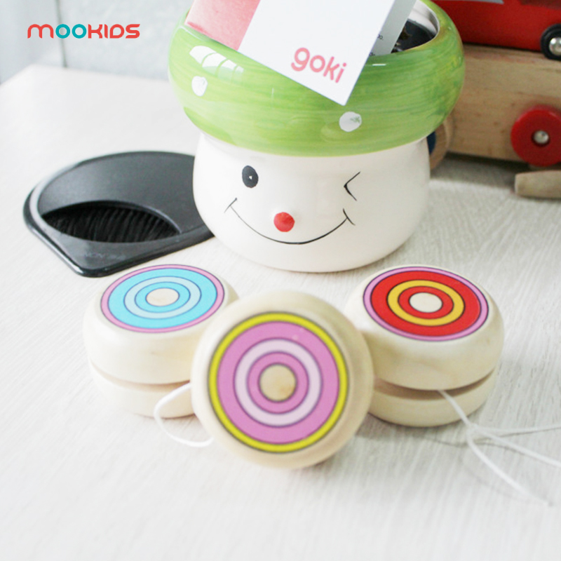 Toy Free Shipping Classic Toys Wooden Yoyo Toys Kids Intelligence Educational Toy Hand-Eye Coordination Development Yoyo