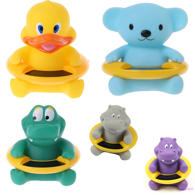 Baby Infant Bath Tub Water Temperature Tester Toy Animal Shaped Thermometer New