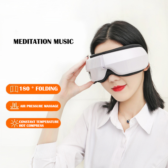 Electric vibration bluetooth eye massager wrinkle fatigue relieve with music