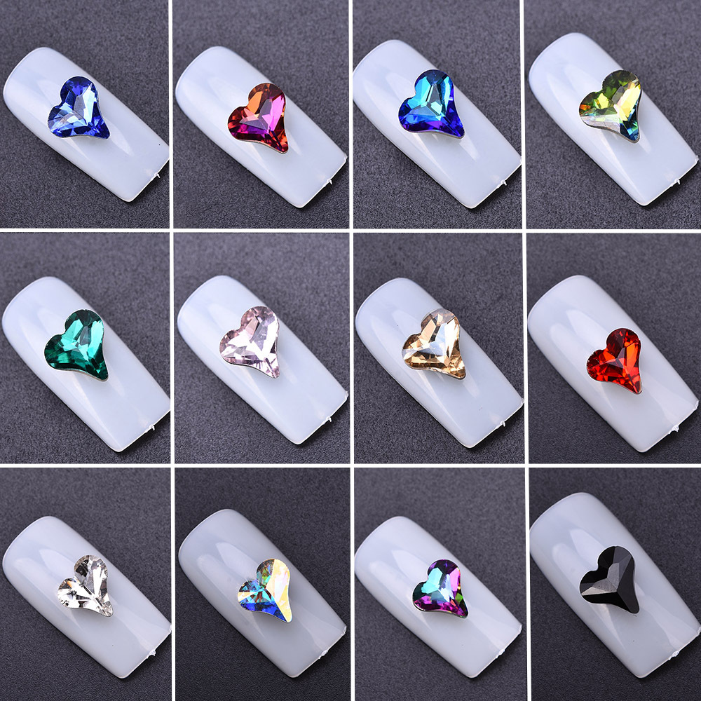 New Style Japanese-style Nail Ornament Diamond Nail Crystal DIY Jewelry Phone Stickers Diamond Symphony Crooked Tao Heart·traeh