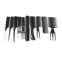 10 unids/set cepillo profesional para el cabello, peine, peluquería, peines antiestáticos para el cabello, peines para el cuidado del cabello, herramientas de estilismo