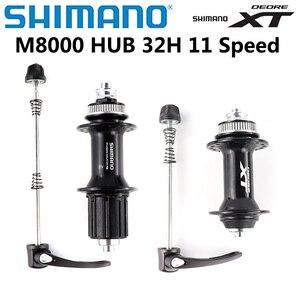 Bộ Chuyển Động SHIMANO Deore XT M8000 Phía Trước Phía Sau Trung Tâm FH M8000 HB M8000 Centerlock QR 10X135Mm 32 Lỗ MTB xe Đạp Phát Hành Nhanh