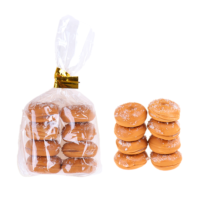 1 Bag Artificial Donut Chocolates Fake Food Ornament Craft Decor Miniature Dollhouse Decoration DIY Kitchen Toys