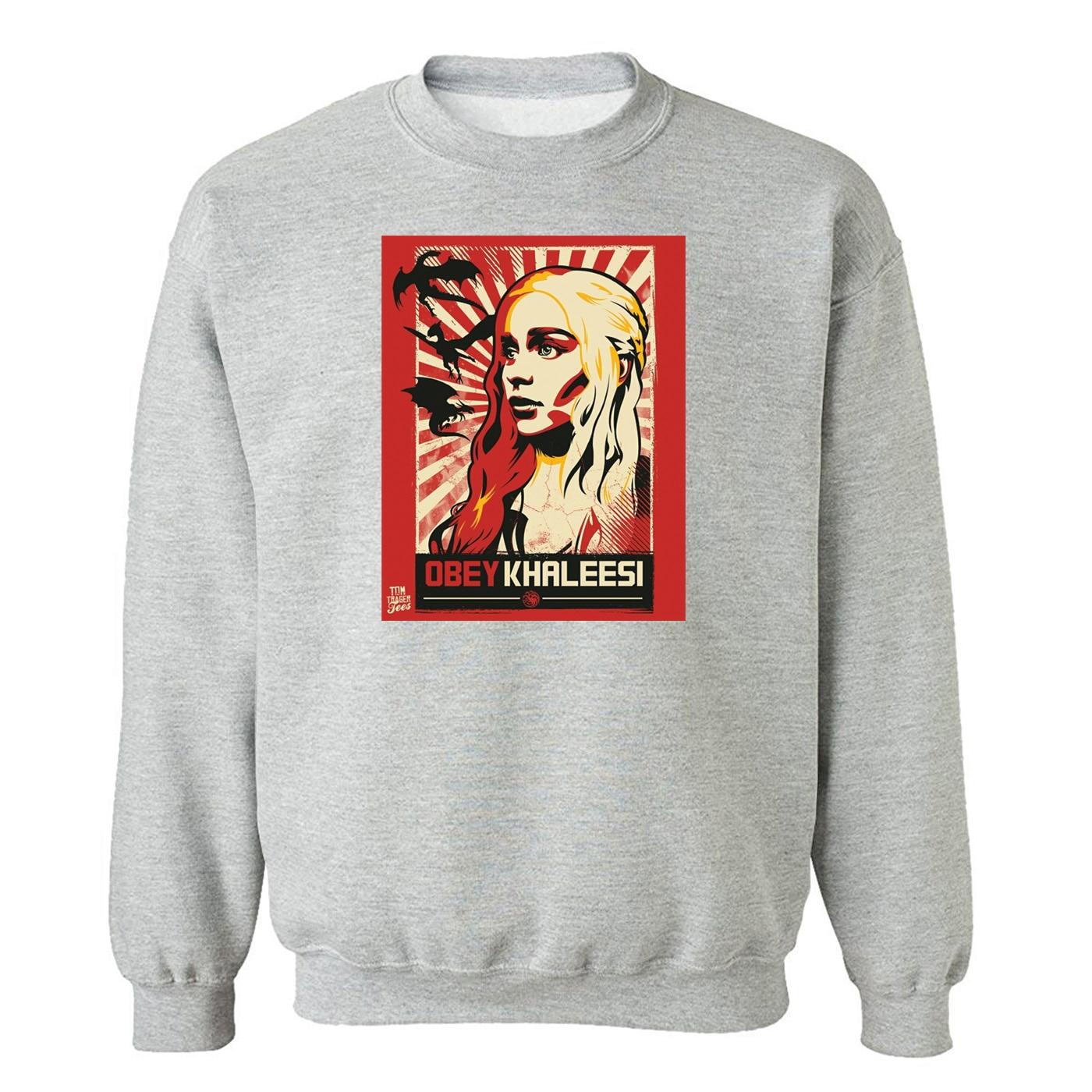 Autumn Men Hoodies Sweatshirts Hip Hop Game Of Rights Daenerys Targaryen Male Streetwear Fashion Harajuku Sweatshirt Man Hoodie