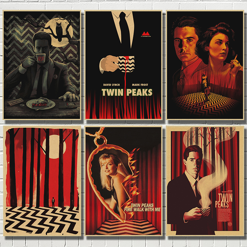 TWIN PEAKS Kraft Paper Home Decor Poster Wall Art  Wall Pictures For Living Room Decoration