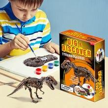 2020 детские развивающие игрушки diy раскрашенные в виде динозавра