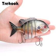 TREHOOK 9.5cm 36g Artificielle Grand Leurre Dur Leurre De Pêche Articulé Appât Swimbait Crankbaits Pêche Mer Leurres Leurres Brochet