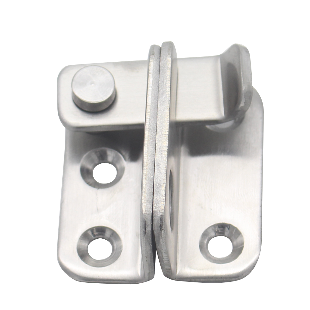 Stainless Steel Gate Latches Left/Right Door Padlock Latch Safety Lock with Hole