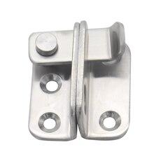 цена на Stainless Steel Gate Latches Left/Right Door Padlock Latch Safety Door Lock with Padlock Hole