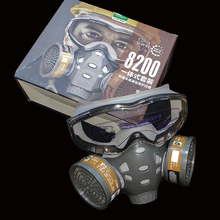 Gas-Mask FILTER-RESPIRATOR Glasses Spray-Paint Chemical Pesticide-Decoration Safety Full-Face