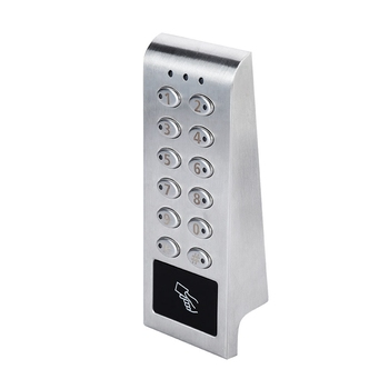 Cerradura electrónica de acero inoxidable, teclado con contraseña Digital, bloqueo de código de puerta de armario, batería excluida con controlador y tarjeta de puerta