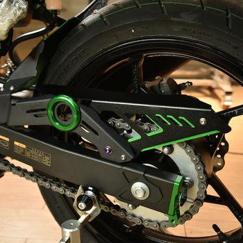 Para Kawasaki Ninja400 Ninja250 ZX400 Ninja 400, 2017, 2018, 2019, 2020 guardabarros trasero guardabarros de la cadena cubierta de accesorios de la motocicleta