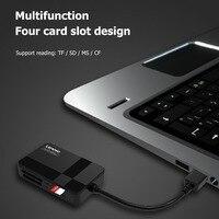 Lenovo D302 lettore di Schede USB 3.0 5Gbps 2TB 4-in-1 Multifunzione TF CF MS Sicuro lettore di Schede di Memoria digitale per PC