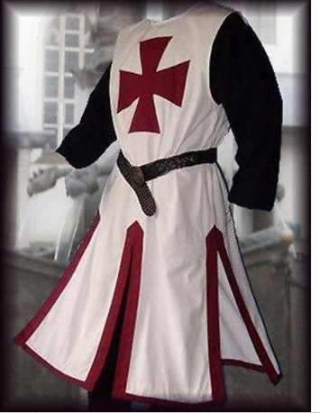 중세 기사 기사단 십자군 의상 남성 조끼 튜닉 롱 크로스 셔츠 워리어 surcoat armor tabard belted top for adult 4xl
