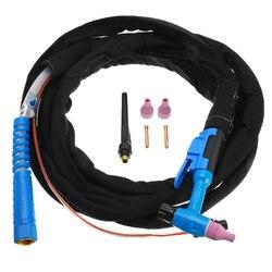 Metal ceramiczny Tig palnik do spawania chłodzony powietrzem spawacz M16 3.7 m/12ft tarcza puchar elektrody M16 zestaw do QQ150|Spawarki TIG|   -