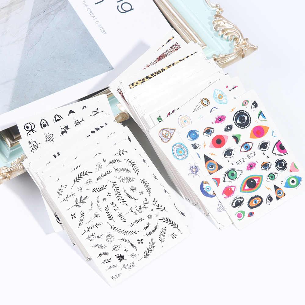 Manicure Watermarking Adesivo Vendita Calda di Carta di Serie STZ On-Line di Un Personaggio Famoso Nail shui yin hua Leopord Modello Autoadesivi Del Chiodo