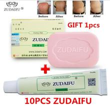 10 pcs Zudaifu psoriasis ointment + 1 pcs Zudaifu soap(without details box) cheap YIGANERJING Unisex CHINA GZZZ ZGZWBZ BODY Antibacterial Cream AAAAA