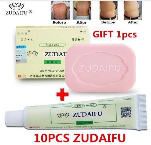 10 Pcs Zudaifu Psoriasis Ointment + 1 Pcs Zudaifu Soap(without Details Box)
