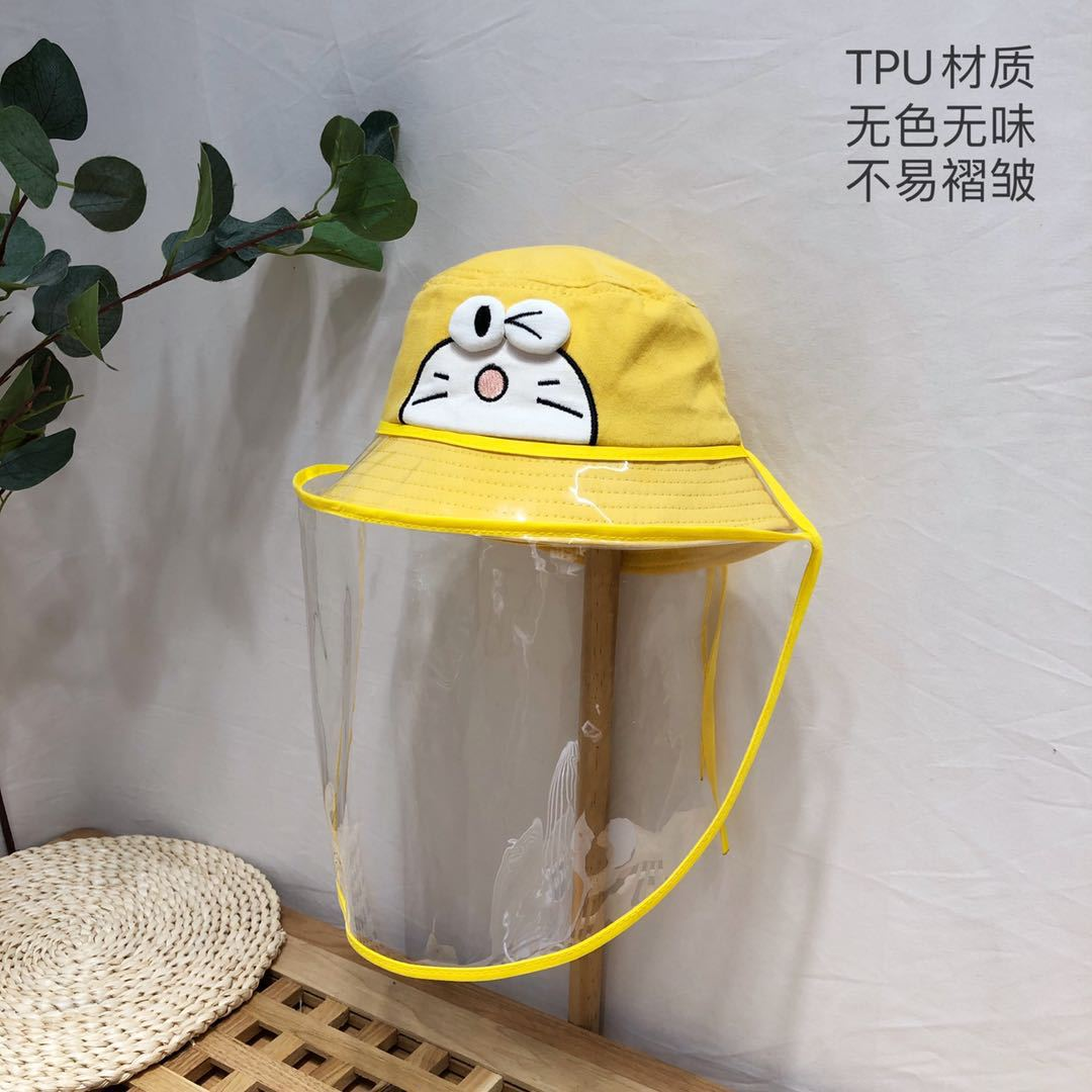 Children Protective Cap Against The Droplets Saliva Bucket Hats Boy Girl Transparent Dust Cover