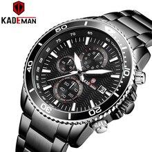 KADEMAN Luxury Sport Watch Men TOP Brand Military Waterproof Quartz Wristwatch Fashion Steel Male Date Clock Relogio Masculino