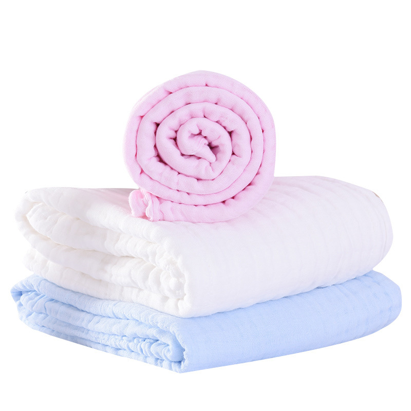 Baby Blanket Cotton Solid Muslin Swaddle Bamboo Muslin Swaddles Blanket Baby Blankets Newborn Swaddle Stroller Muslin Squares